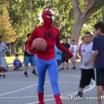 『検証!!! もしもスパイダーマンがバスケットをプレイしたら』